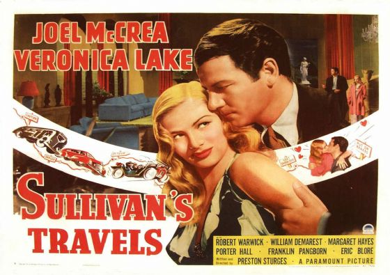 Sullivan's Travels, Veronica Lake, Joel Mccrea, 1941 Vintage Film/Movie Print/Poster. Sizes: A4/A3/A2/A1 (002831)